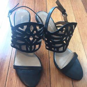 Badgley Mischka Black Strappy Heels